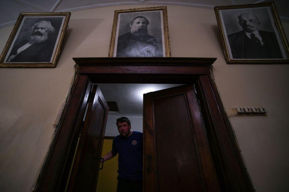 Kibic w Bunkrze Stalina w Samarze
