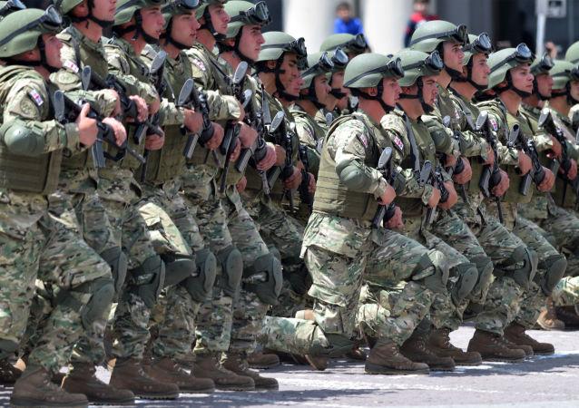 Wojskowi gruzińskiej armii