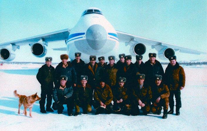 "Załoga samolotu An-124 ""Rusłan"", 1996 rok"