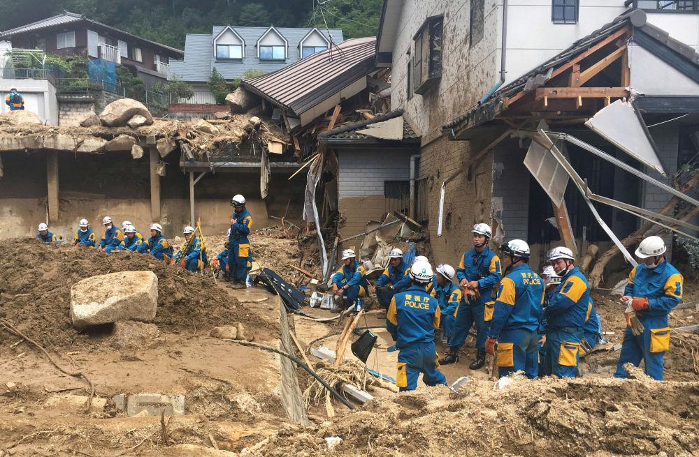Ratownicy w Hiroszimie