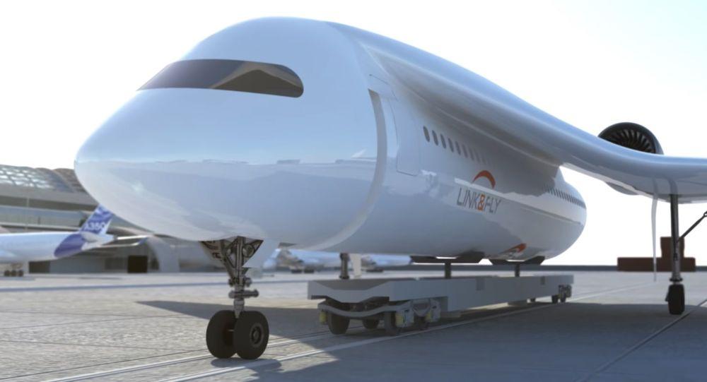 Samoloty francuskiej firmy AKKA Technologies Group, który może przekształcić się w pociąg