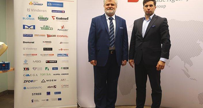Kierownik Zagranicznego Biura Handlowego PAIH w Moskwie Wojciech Kolignan i project manager Departamentu Promocji Gospodarczej Dawid Cecuda
