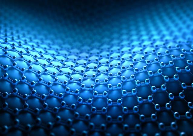 Struktura molekularna tkaniny z nanorurek