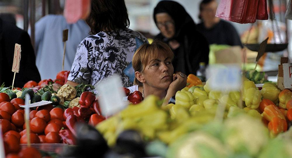 Rynek płodów rolnych w Belgradzie