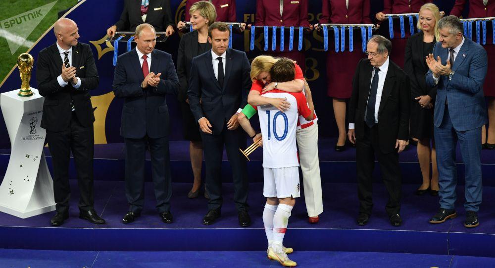 Zdobywca Złotej Piłki 2018 chorwacki piłkarz Luka Modrić