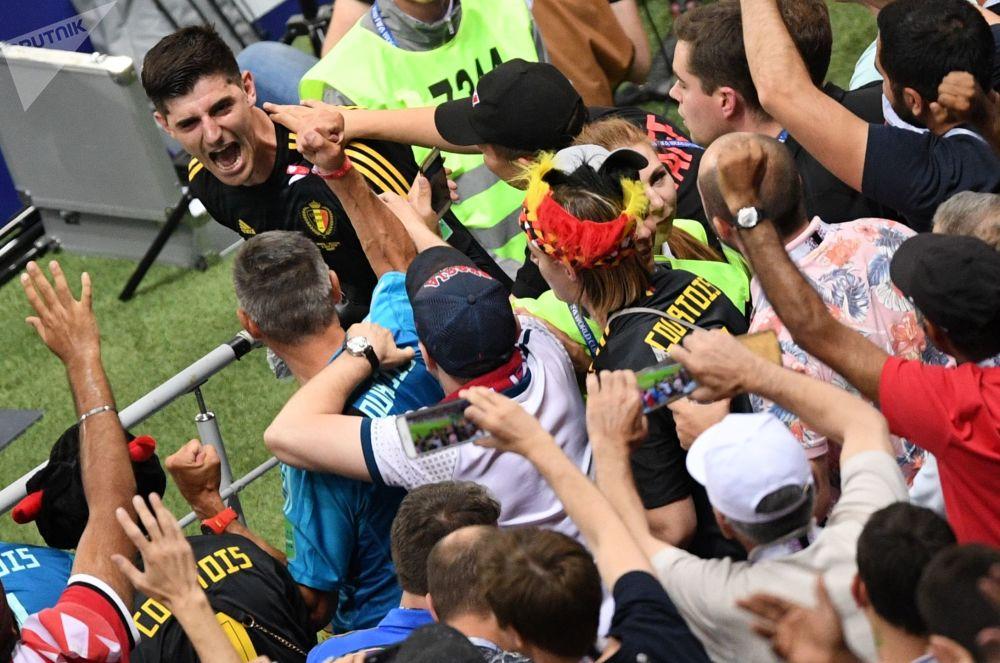 Najlepszy bramkarz Mundialu Belg Thibaut Courtois