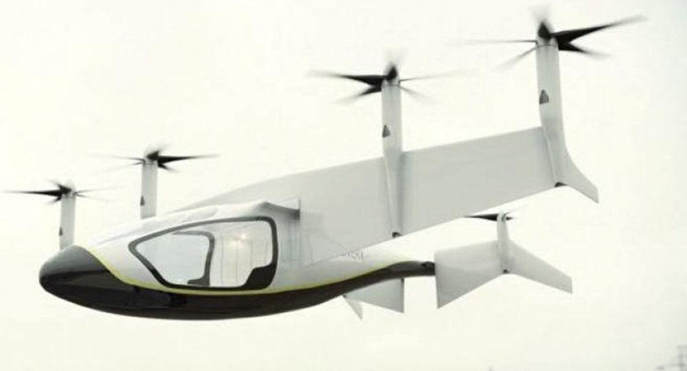 Koncepcja latającej taksówki elektrycznej Electric Vertical Take Off and Landing (EVTOL)