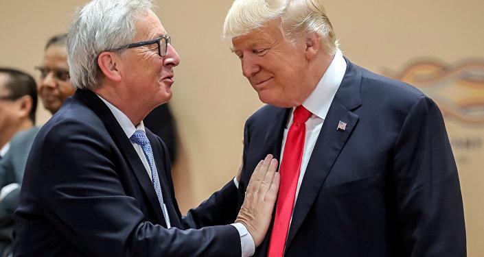 Donald Trump i Jean-Claude Juncker
