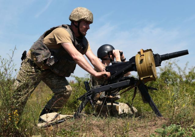 Żołnierze podczas ćwiczeń w obwodzie lwowskim