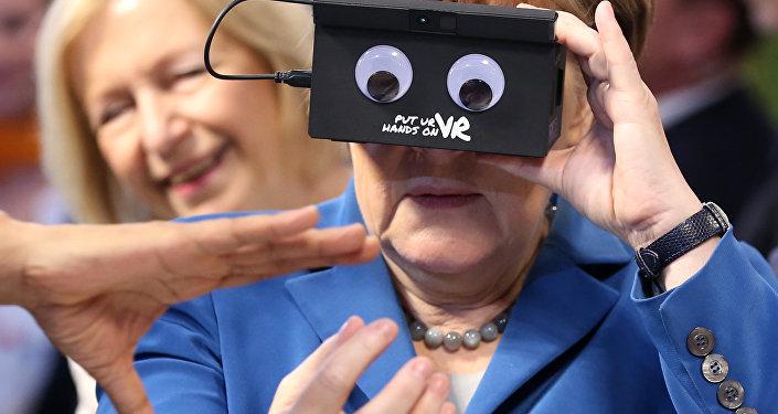 Angela Merkel w Hannoverze, 2016 rok