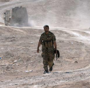 Irański żołnierz w okolicach Palmiry
