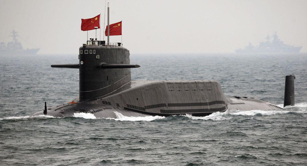 Chiński atomowy okręt podwodny. Zdjęcie archiwalne
