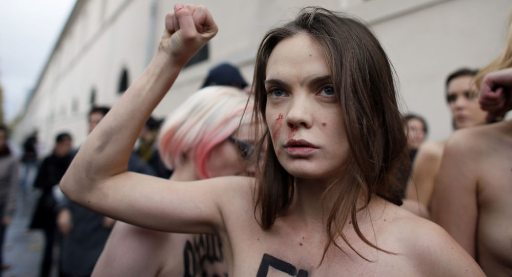 Ukraińska artystka i jedna z założycielek międzynarodowego ruchu kobiecego Femen Oksana Szaczko