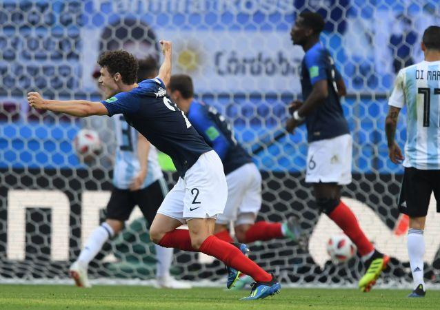 Mecz 1/8 finału Pucharu Świata 2018 między reprezentacjami Francji i Argentyny