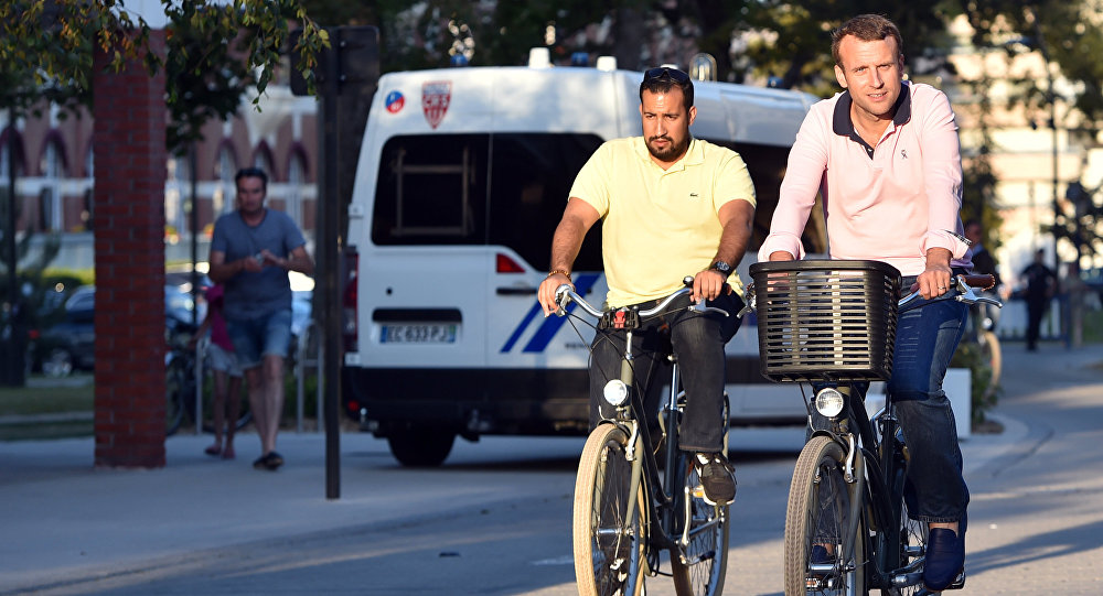 Alexandre Benalla i Emmanuel Macron