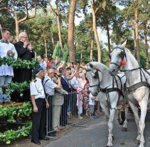 Obrzęd błogosławieństwa zwierząt w ramach uroczystości odpustowych ku czci św. Rocha