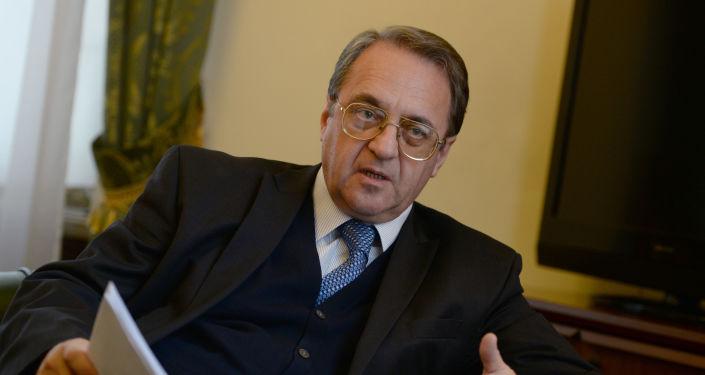Specjalny przedstawiciel prezydenta Rosji ds. Bliskiego Wschodu Michaił Bogdanow