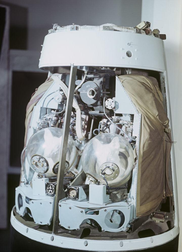 Prototyp kapitulującej się części satelity z psami Biełką i Striłką