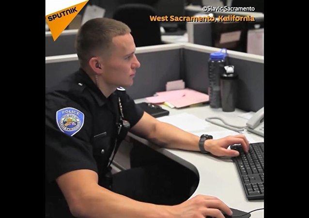 Ci policjanci to Rosjanie
