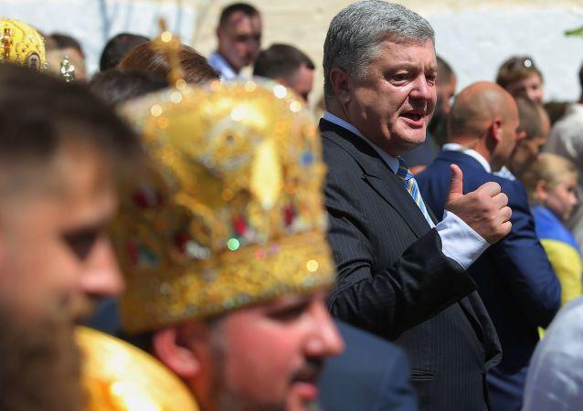 Prezydent Ukrainy Petro Poroszenko na obchodach 1013-lecia Chrztu Rusi