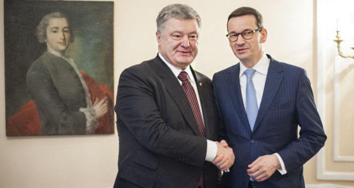 Premier RP Mateusz Morawiecki i Prezydent Ukrainy Petro Poroszenko.