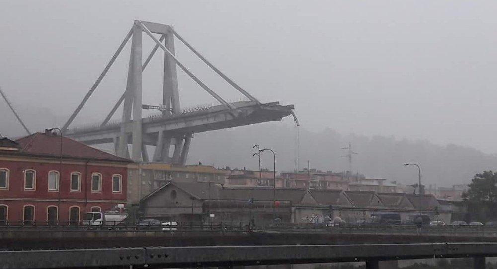 Zawalony most w Genui