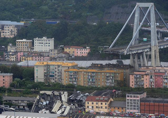 Zawalony most w Genui, 14 sierpnia 2018