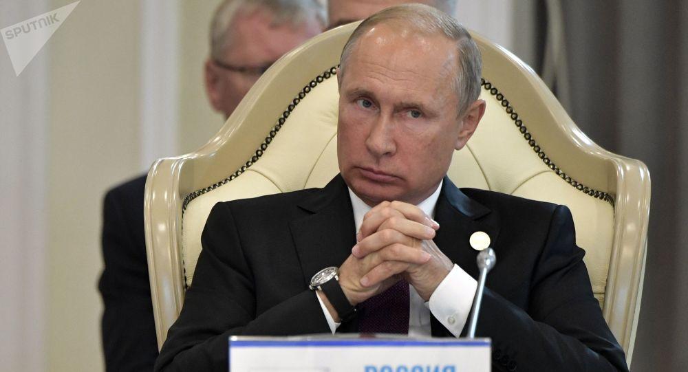 Prezydent Rosji Władimir Putin na Szczycie Kaspijskim w Aktau. Zdjęcie archiwalne