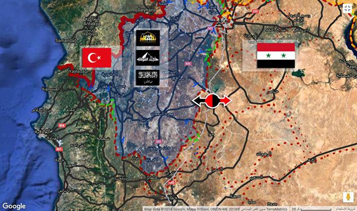 Mapa operacji w Idlibie