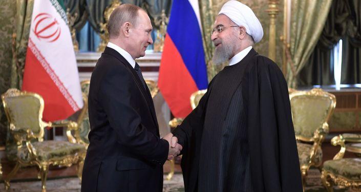 Władimir Putin i Hasan Rouhani
