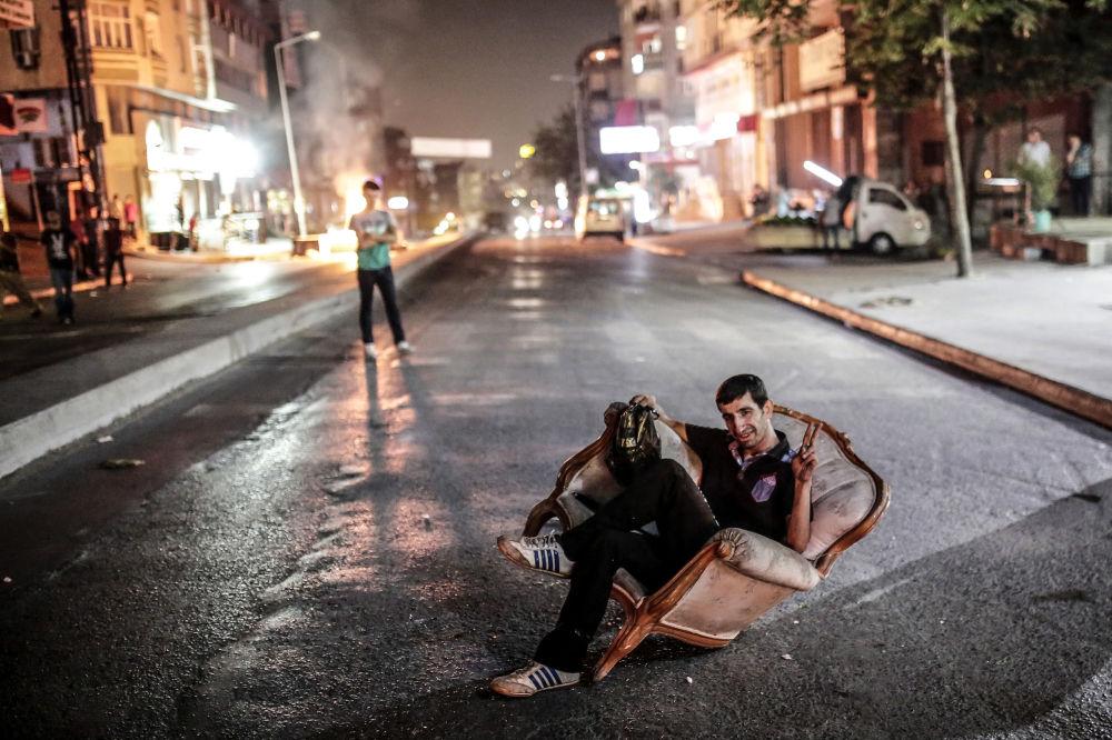 Akcja protestacyjna przeciwko Partii Pracujących Kurdystanu w Turcji