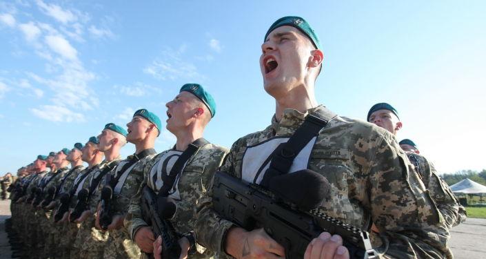 Żołnierze ukraińskiej armii. Zdjęcie archiwalne
