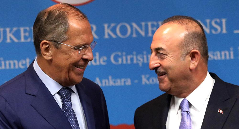 Spotkanie Siergieja Ławrowa z szefem tureckiej dyplomacji Mevlütem Çavuşoğlu