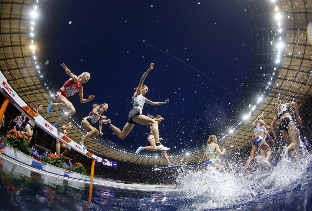 Bieg kobiet na 3000 metrów z przeszkodami na Mistrzostwach Europy w Letnich Dyscyplinach Sportu w Berlinie