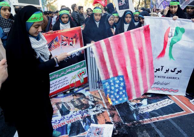Antyamerykańskie protesty w Iranie