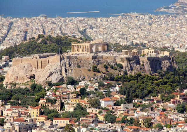 Widok na Akropol i Ateny