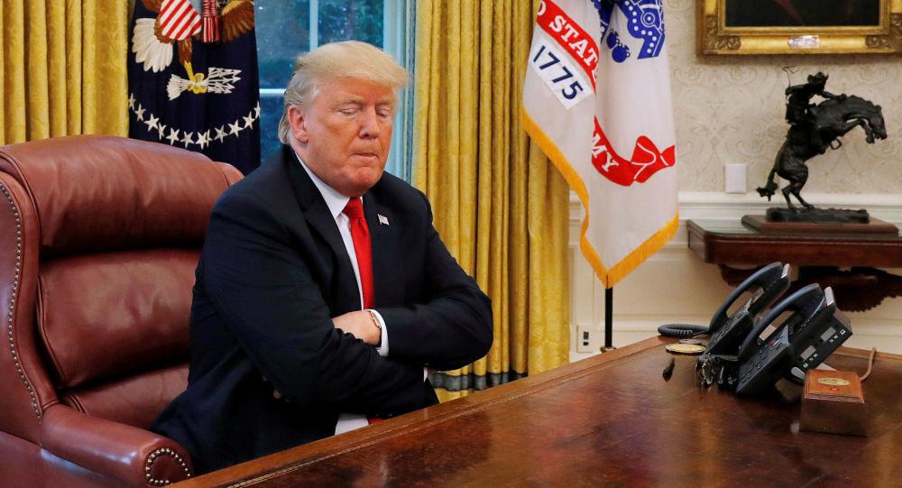 Prezydent Stanów Zjednoczonych Donald Trump podczas wywiadu dla agencji Reuters