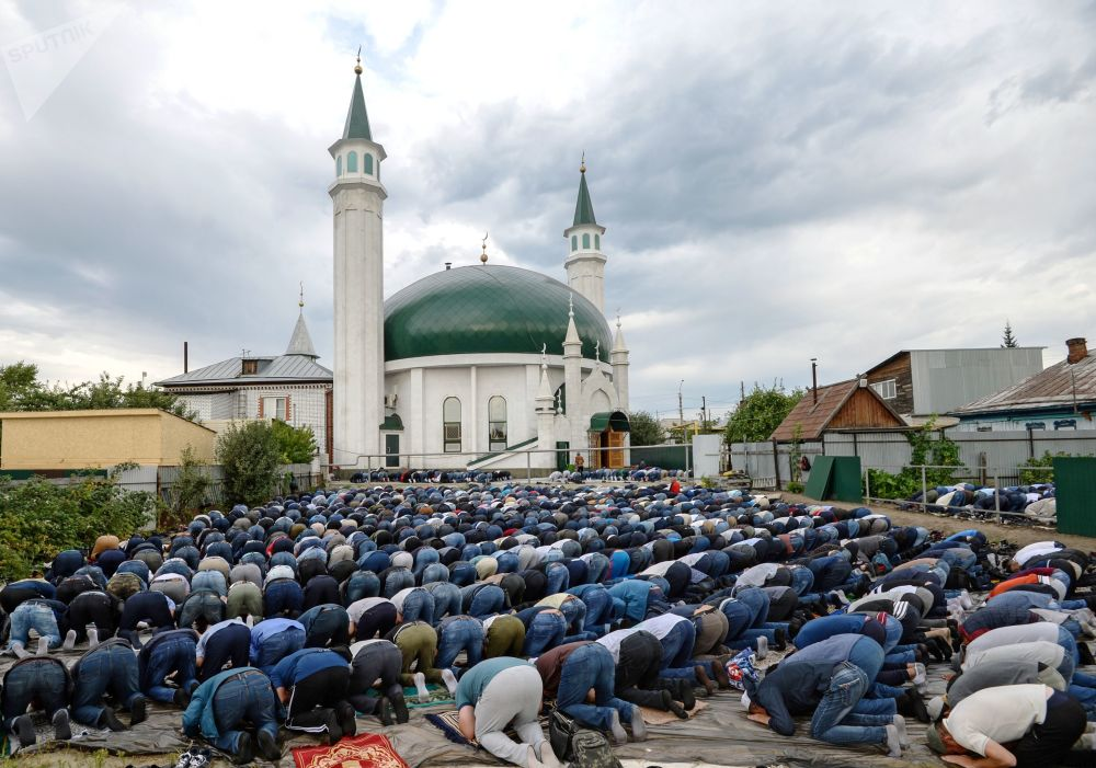 Swięto Id al-Adha. Barnauł, Rosja.