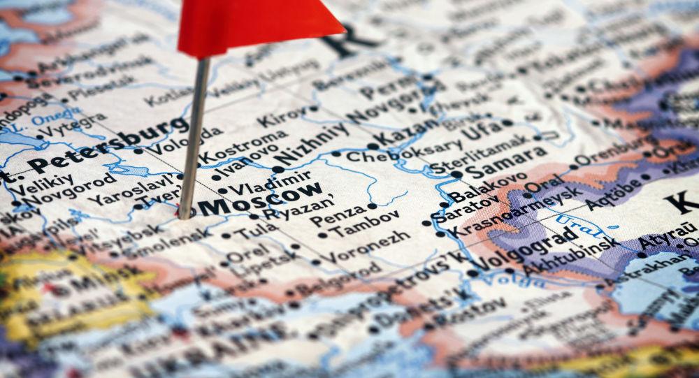 Moskwa na anglojęzycznej mapie Rosji