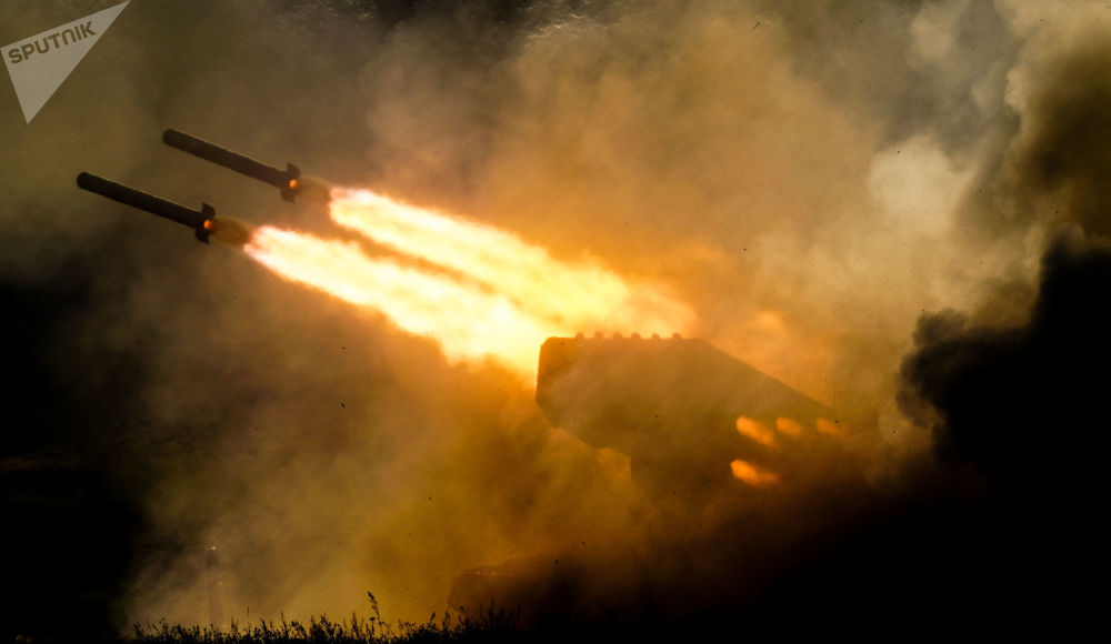 System artylerii rakietowej TOS-1a. Forum wojskowe Armia 2018 pod Moskwą