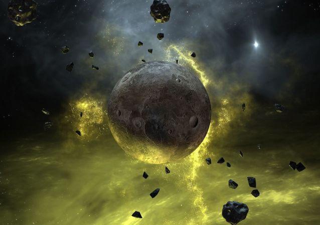 Artystyczne przedstawienie nieznanej planety