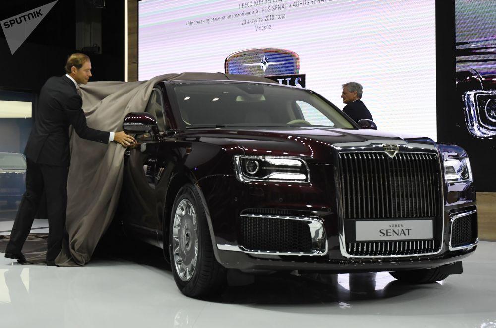 Aurus Senat na Międzynarodowym Salonie Samochodowym w Moskwie