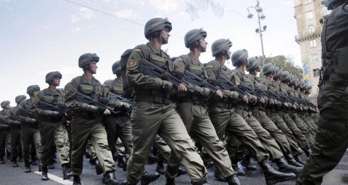 Ukraińscy żołnierze w Kijowie