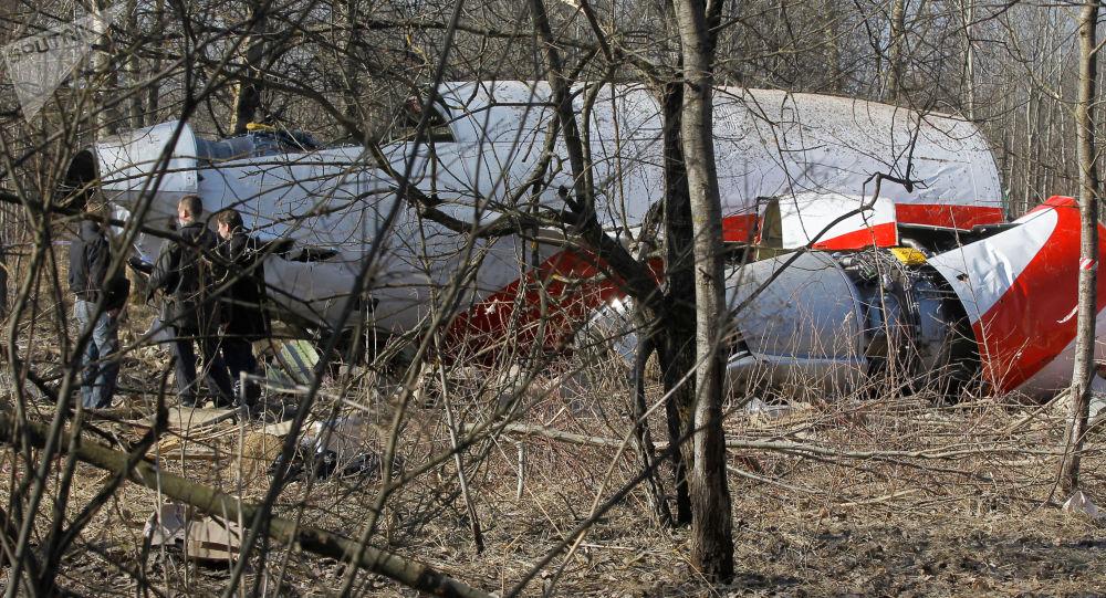 Szczątki prezydenckiego Tu-154