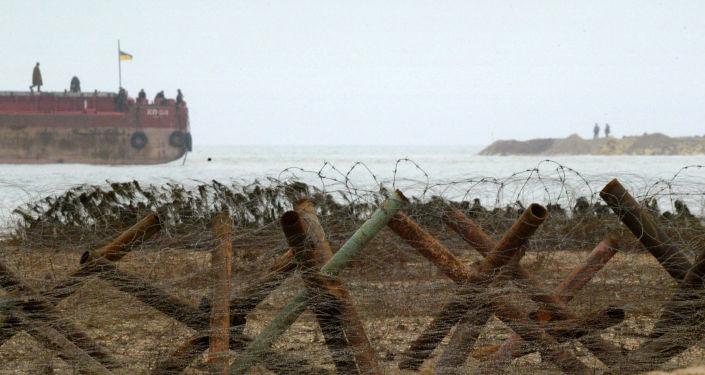 Pracownicy Straży Granicznej Ukrainy na Morzu Azowskim