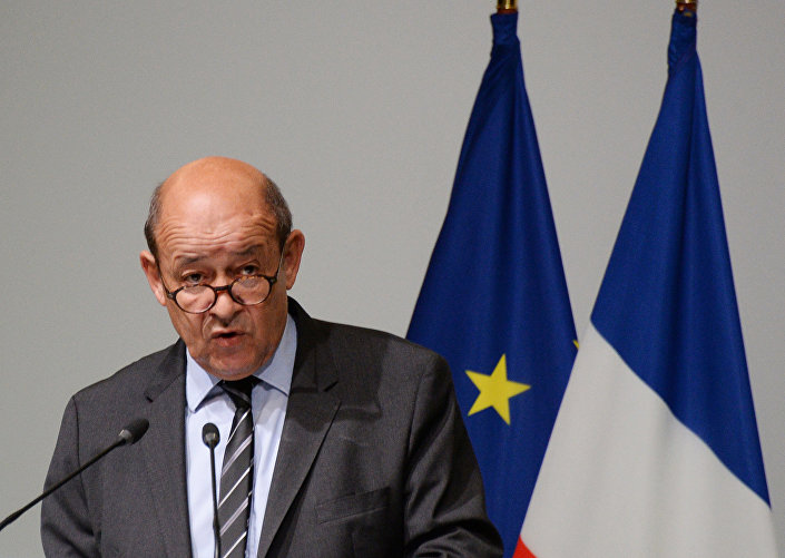 Minister obrony Francji Jean-Yves Le Drian. Zdjęcie archiwalne