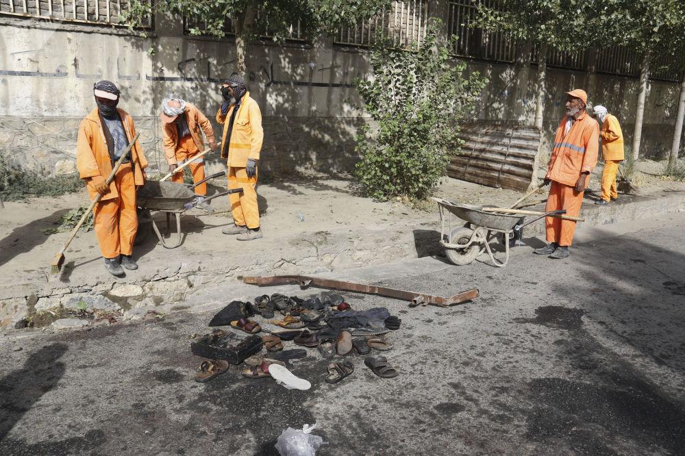 Skutki wybuchu w Kabulu