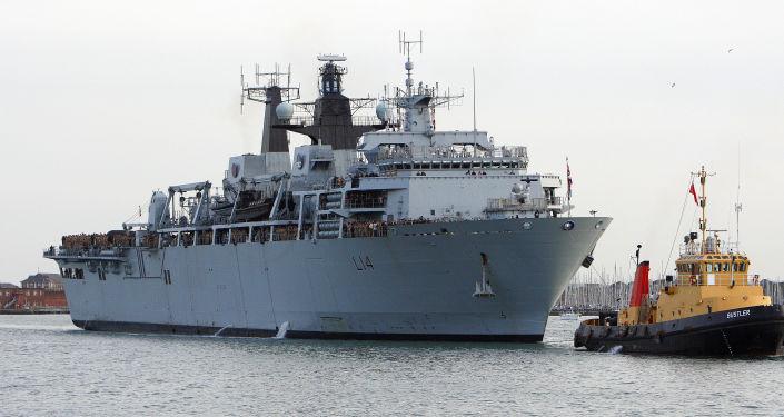 Okręt desantowy marynarki wojennej Wielkiej Brytanii HMS Albion