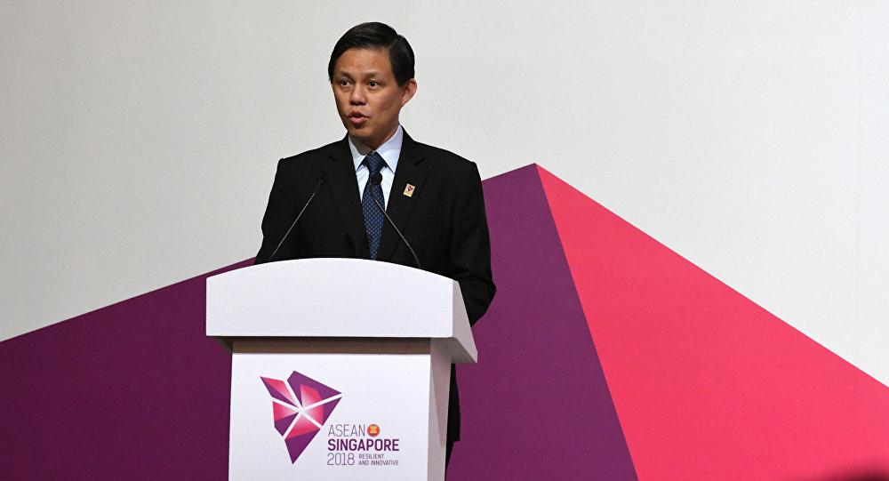Minister handlu i przemysłu Singapuru Chan Chun Sing