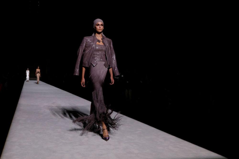 Prezentacja kolekcji Tom Ford podczas Tygodnia Mody w Nowym Jorku